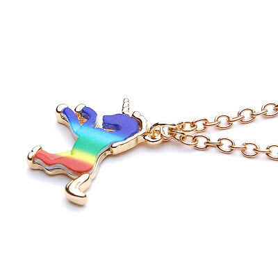 Mythical Magical Unicorn Necklace Horse Charm Pendant Fantasy Chain Gift HZ
