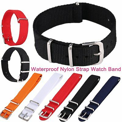 Fashion WristWatch Band Waterproof Nylon Strap Wrist Watch Band 16/18/20/22mm RO