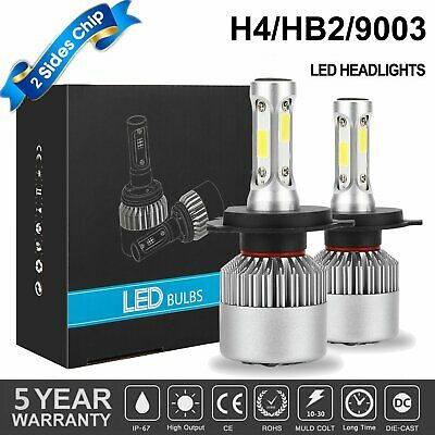 2019 New 3-Side H4 LED Headlight Car Bulbs 300W 36000LM High And Low Beam Bright