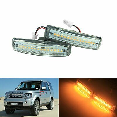 2x Land Rover Freelander MK1 BAU15S 18-LED Front Indicator Repeater Light Bulbs