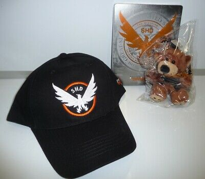 The Division 2 Peluche Tommy Bear + Baseball Cap + Steelbook Ps4 Xbox No Game