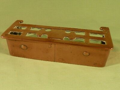 Antique Solid Copper Miniature Fireplace Fender