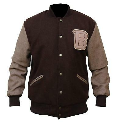 Hotline Miami Appealing Flight/Bomber Woolen Brown Jacket, All Sizes, Fast Ship