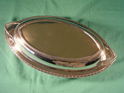 Antique Silver Plated Food Entree Dish WH & S Cross Arrows William Hutton & Sons