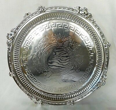 Antique Heavy Sheffield Plated Salver / Decanter Tray - Excellent Condition