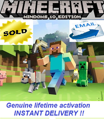 Minecraft PC Windows 10 Edition  KEY ACTIVATION 🔥🔥NO BOX , INSTANT DELIVERY ✅