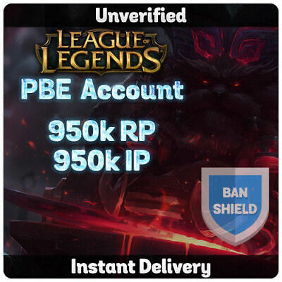 League Of Legends Unverifed Pbe Accounts With Warranty