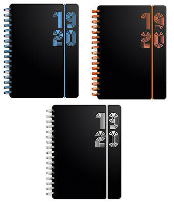 Letts Black 2019-2020 A6 DAY PER PAGE Academic Diary Mid Year Wiro Appointment