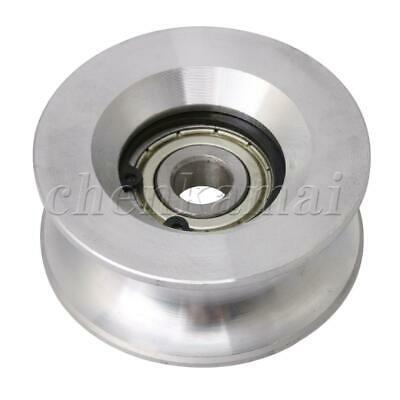Silver Bearing Steel Groove Rail Pulley Passive Roller Guide Wheel 10x60x25mm