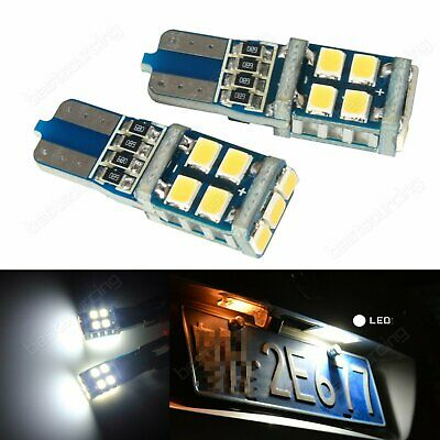 2pcs Wedge T10 194 501 W5W 11 SMD Car Auto LED Puddle Daytime Light Bulbs White