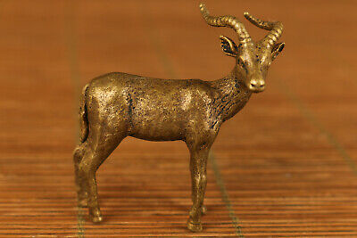 Rare chinese old bronze hand carving sheep statue figure home decoration