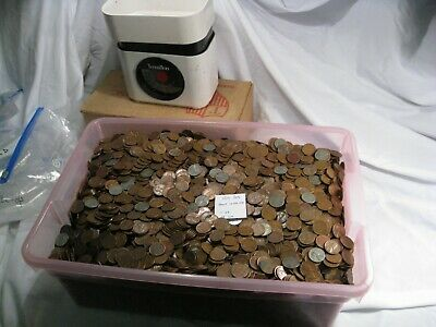 4 lbs - pounds (about 570-590) LINCOLN Wheat Penny Cents. 1940-58-PD w/ Steel.