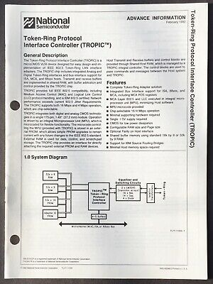 National Semiconductor - TROPIC Token-Ring Interface Controller Data Sheet 1992