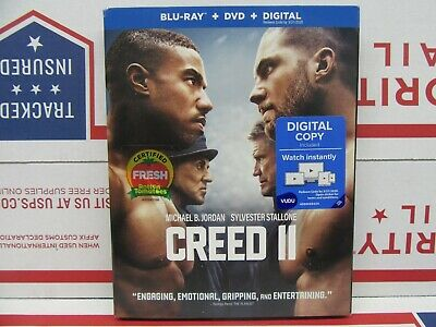 Creed II (Blu-ray + DVD + Digital, 2019) Factory Sealed with Slipcover!!!