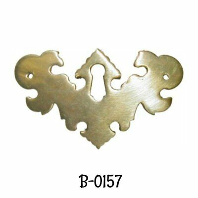 Keyhole Cover Polished Brass Chippendale Style Batwing Key hole Cover Escutcheon