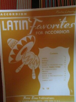 LATIN FAVORITES FOR ACCORDION BY ALFRED d'AUBERGE- PDF/ PRINTED MUSIC BOOK