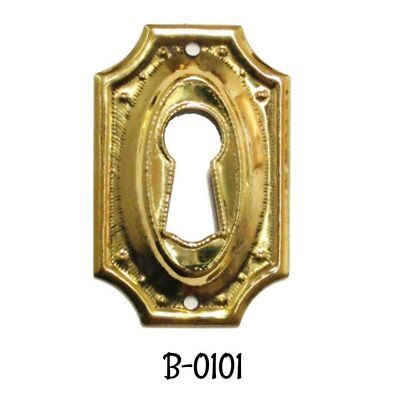 Keyhole Cover Hepplewhite/Sheraton Style Stamped Brass Key Hole Cover Escutcheon