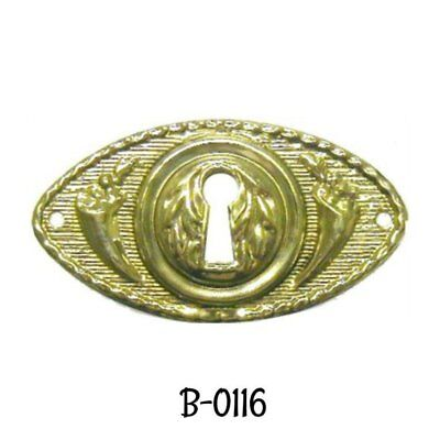 Keyhole Cover Victorian Style Stamped Brass Key Hole Cover Antique Escutcheon