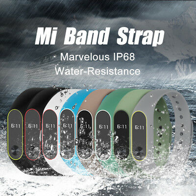 8 Colors Mibos Silicone Replacement Strap Wrist Band for Miband 2 Soft Belt CO