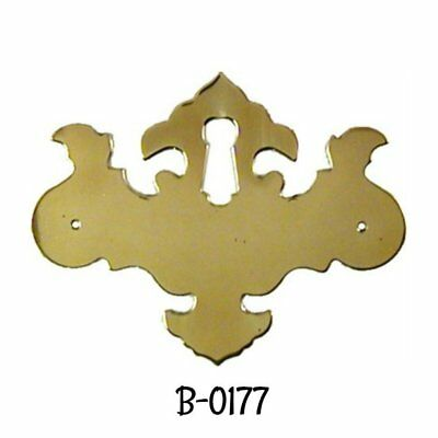 Keyhole Cover Polished Brass Chippendale Style Key Hole Cover Antique Escutcheon