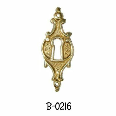 Keyhole Cover  Antique Victorian  Cast Brass Key Hole Cover Vintage Escutcheon