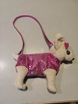 b1f5041ac1c5 POOCHIE & CO Girl's Purse Puppy Dog Tote with Pink Sequins Purple ...