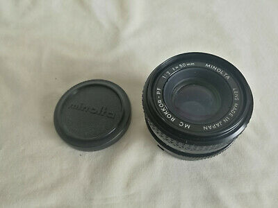 Minolta MC Rokkor-PF 50mm F2 Lens For Minolta MD Mount! Good Condition!