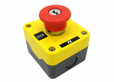 Europa Components Emergency Stop IP65 Key Release + 1 N/C RCAS-ESB141NC
