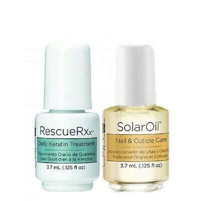 CND Mini Duo ~Rescue RXx DAILY KERATIN TREATMENT 3.7ml and CND Solar Oil 3.7ml ~