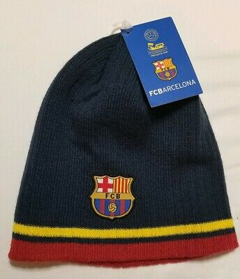 653f653d986 Nwt Fc Barcelona Beanie Official Winter Skull Cap Hat Authentic Messi