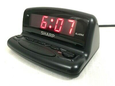 SHARP NIGHTSTAND ALARM Clock Digital LED Display w/Snooze & Battery Backup  NICE!