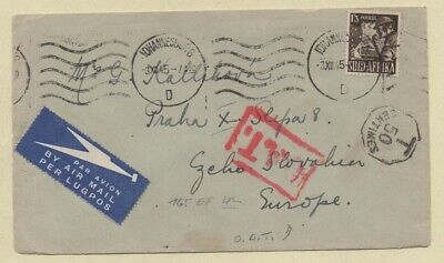 South Africa 1945 Cover to CZECHOSLOVAKIA, O.A.T. Cachet LENINGSERTIFIKATE Label