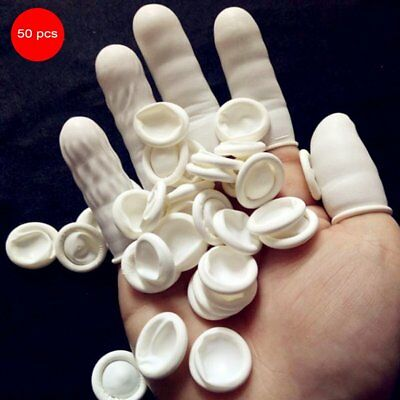 50PCS/SET Latex Anti-Static Finger Cots Disposable Eyebrow Extension Gloves JF