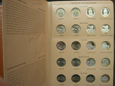 ATB America the Beautiful Quarters Set Complete 2010-2013 Dansco w/Silver Proofs