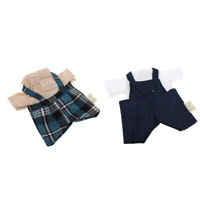Fashion Short Sleeve & Suspender Pants Shorts for 1/6 BJD Doll Clothes Accs