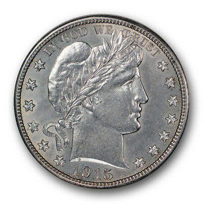 1915-D 50C Barber Half Dollar Uncirculated Mint State R380