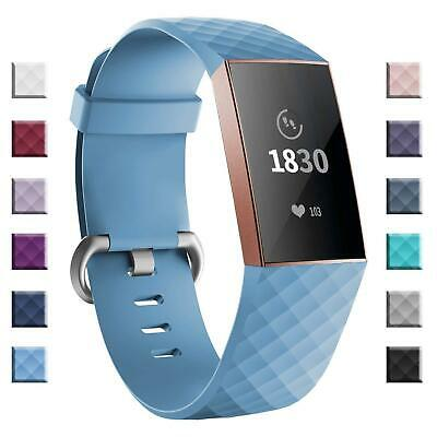 Fitbit Charge 3 Wrist Straps Wristband Best Replace Accessory Rubber Watch Strap