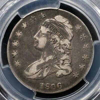 1836 Capped Bust Half Dollar - PCGS VF35 - Lettered Edge - CAC Certified