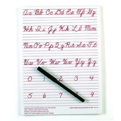 Ashley Productions ASH912CU Traditional Cursive Write-On- Wipe-Off Board 9 X 12