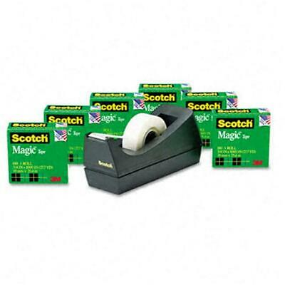 3M 810K6C38 Magic Tape Value Pack with Dispenser 3/4 x 28 Yards 1 in.Core Six...