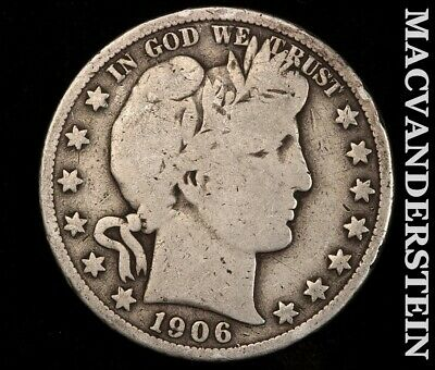 1906-S Barber Half Dollar-Scarce Better Date!! #f698