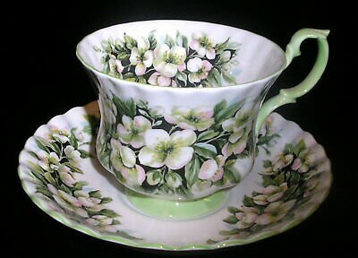 Vintage Royal Albert Orange Blossom Bone China Tea Cup & Saucer MINT