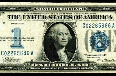 $1 1934 ::::: FUNNY BACK :::::  Silver Certificate ** MORE CURRENCY FOR SALE **