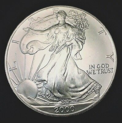 2000 Silver American Eagle BU 1 oz Coin US $1 Dollar Brilliant Uncirculated *200
