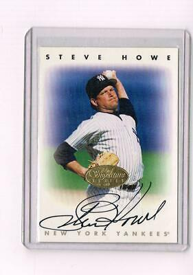 1996 Leaf Signature Series Steve Howe On-Card Auto Gold Parallel NY Yankees
