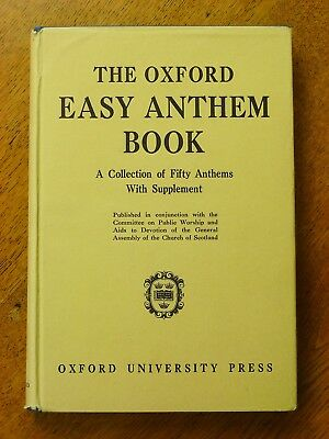 The Oxford Easy Anthem Book (Hardback, 1950-60s)