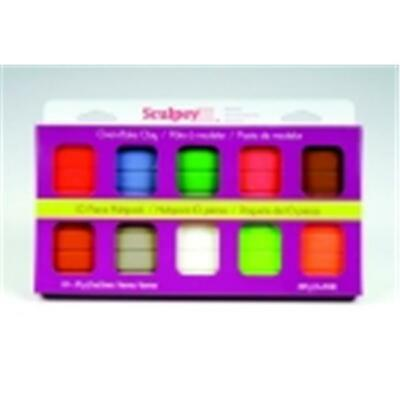 Sculpey Non-Toxic Polymer Modeling Compound Multi-Pack - 2 Oz. - Pack 10