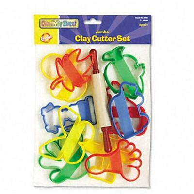Chenille Kraft 9780 Clay Cutter Set Rolling Pin and 10 Cutters
