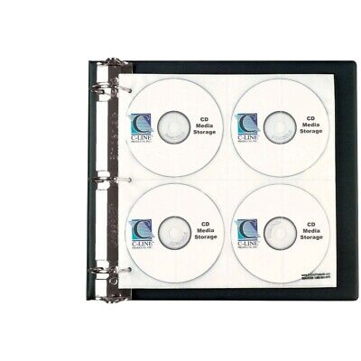 C-Line 078736 Refill Page For CD And DVD Ring Binder Kit 144 CD-Dvd Clear