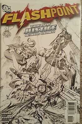 Flashpoint #4   1:25 Sketch Variant Cover  Geoff Johns Andy Kubert